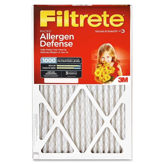 20x20x1 (19.6 x 19.6) Filtrete Allergen Defense 1000 Filter by 3M™