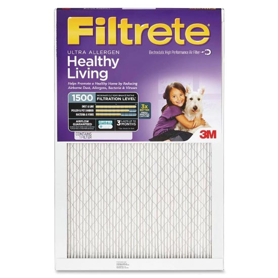 22x22x1 (21.6 x 21.6) Ultra Allergen Reduction 1500 Filter by 3M