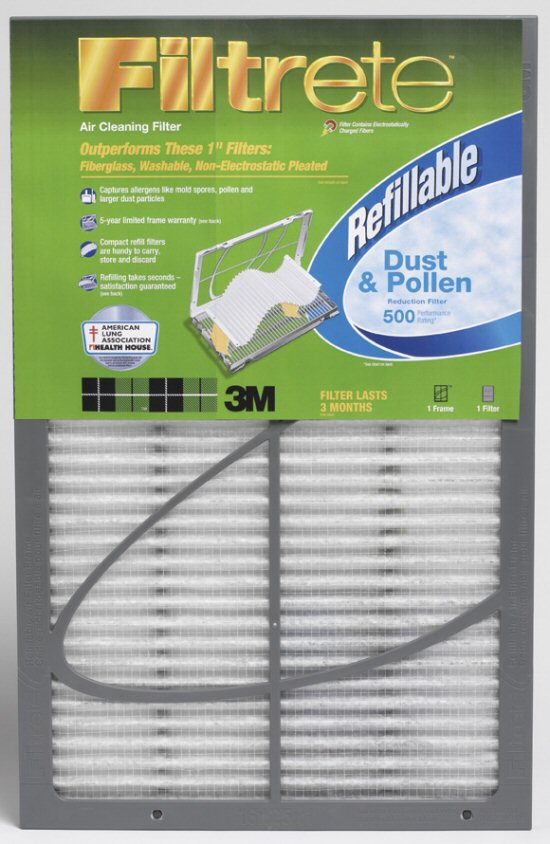 20x25x1 Filtrete 500 Dust & Pollen Refillable Filter by 3M™