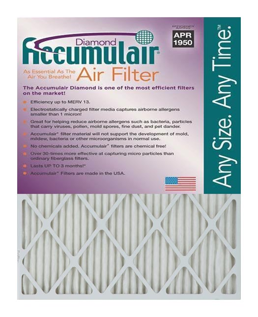 12x24x6 (11.38 x 23.38 x 5.88) Accumulair Diamond 6-Inch Filter (MERV 13)