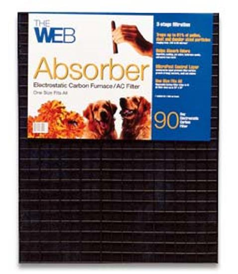 WEB Absorber Electrostatic Carbon Filter Adjustable 20X25 and Smaller