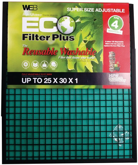 WEB ECO Plus Permanent Electrostatic 1″ ADJUSTABLE 25X30 and SMALLER