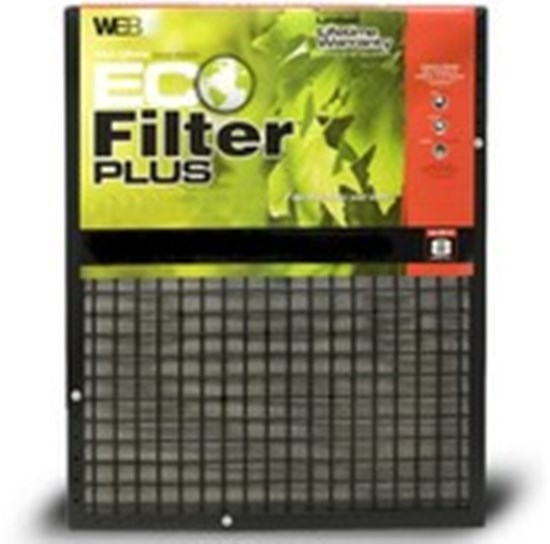 25x25x1 (24.63 x 24.63) WEB Eco Plus Permanent Electrostatic 1″ Thick Filter