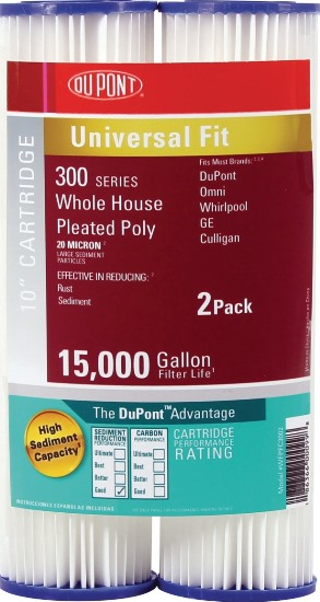 DuPont Universal Whole House Pleated Poly Cartridge PFC3002 (2 Pack)