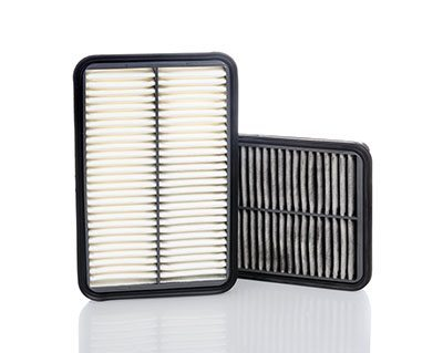 comparison between new and used air filter for car automotive spare part