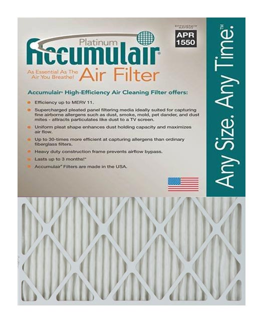 9×11.75×1 (Actual Size) Accumulair Platinum 1-Inch Filter MERV 11