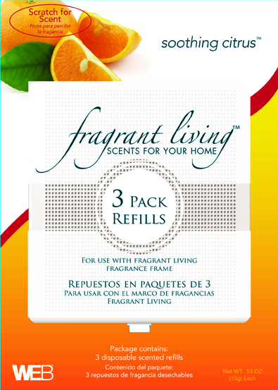 Fragrant Living Scent Refill-Soothing Citrus (3 Pack)